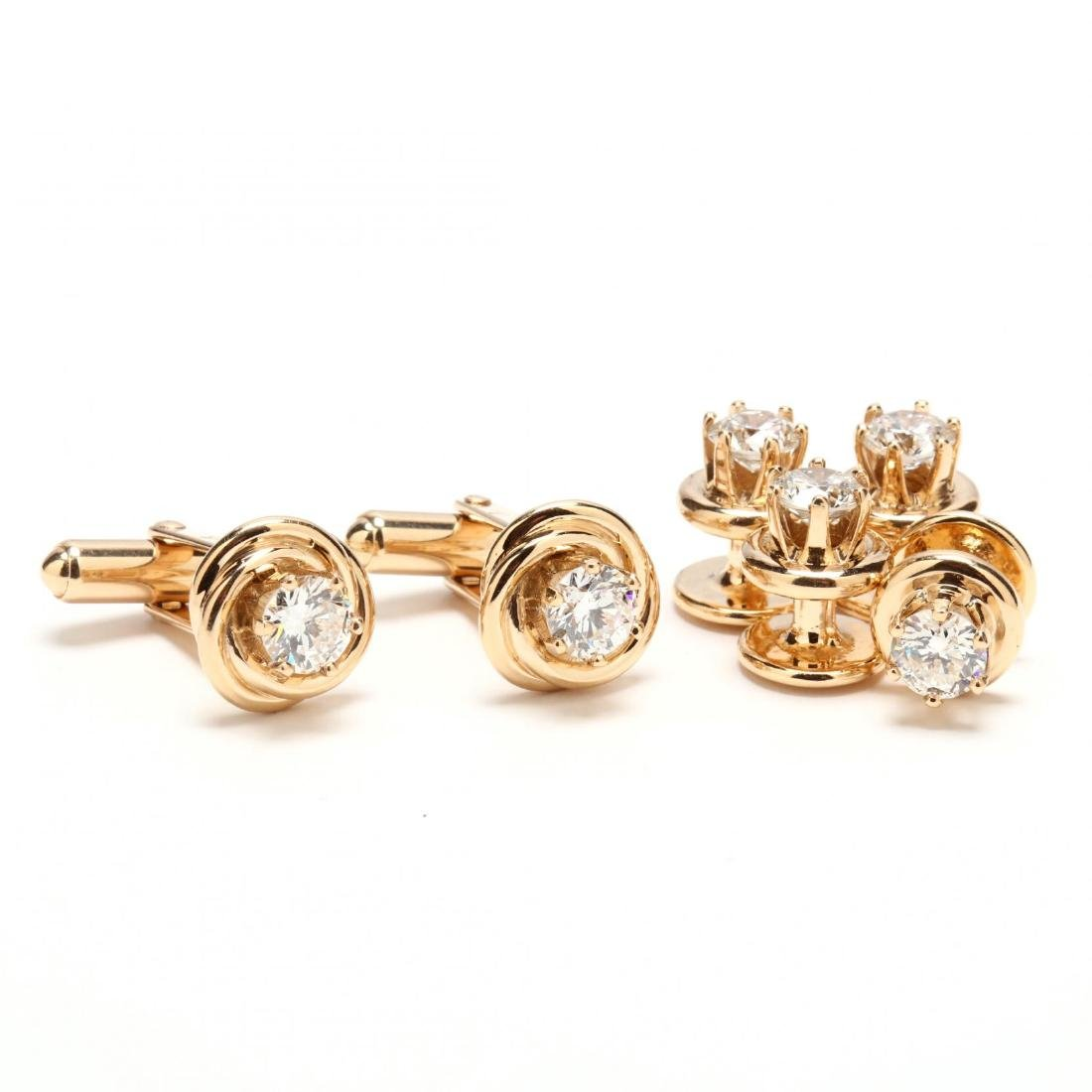 14KT Gold and Diamond Dress Set