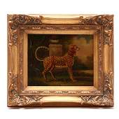 A Decorative Painting of a Cheetah