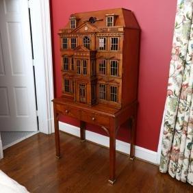 Maitland Smith, Dollhouse Form Cabinet