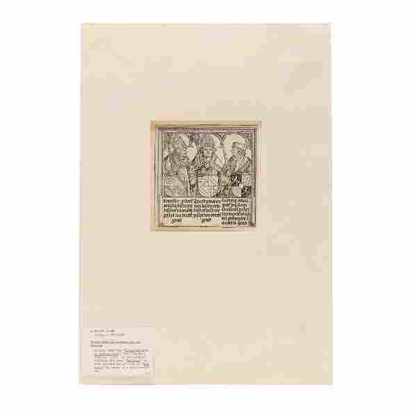 Antique Woodcut Print att. Albrecht DÌ_rer (German,