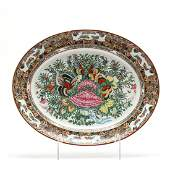 Antique Chinese Export Porcelain Platter in Thousand