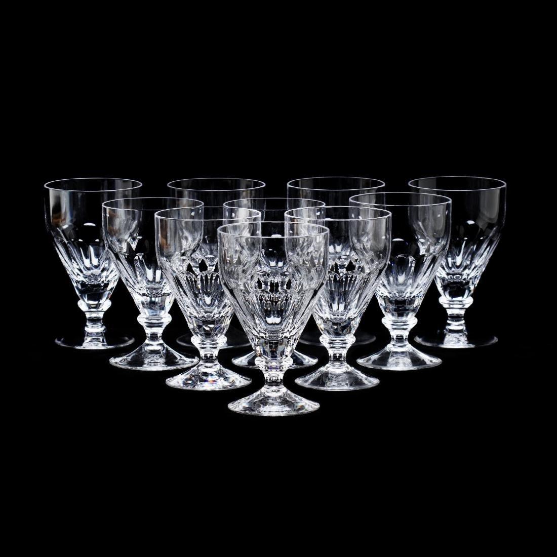 "A Set of Ten William Yeoward ""Iona"" Crystal Small"