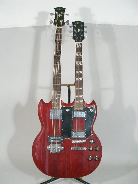 2020: Aria Double-Neck Gibson SG Style Electric Guitar,
