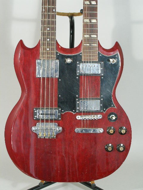 2020: Aria Double-Neck Gibson SG Style Electric Guitar, - 2