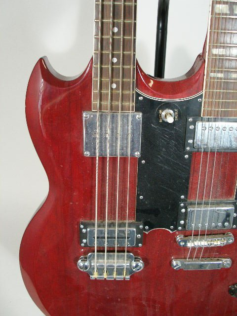 2020: Aria Double-Neck Gibson SG Style Electric Guitar, - 3