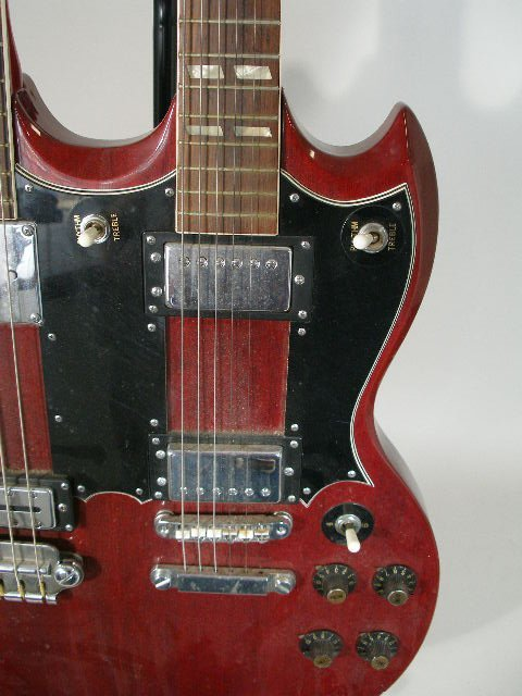 2020: Aria Double-Neck Gibson SG Style Electric Guitar, - 4