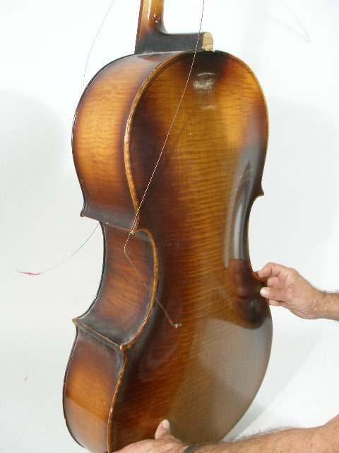 2061: Vintage 4/4 Full Size Kay Cello, c. Late 1930s, - 4