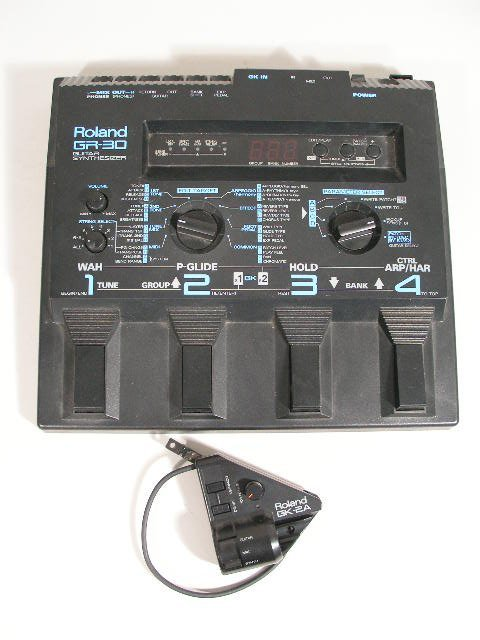 2086: Roland GR-30 Guitar Synthesizer Pedal Board,