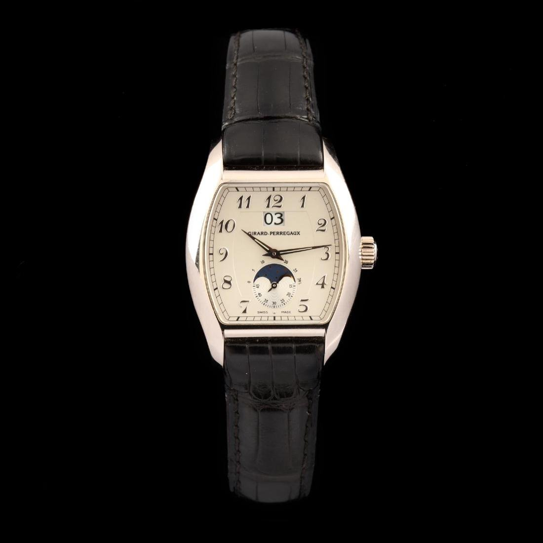 18KT White Gold Richeville Date and Moonphase Watch,