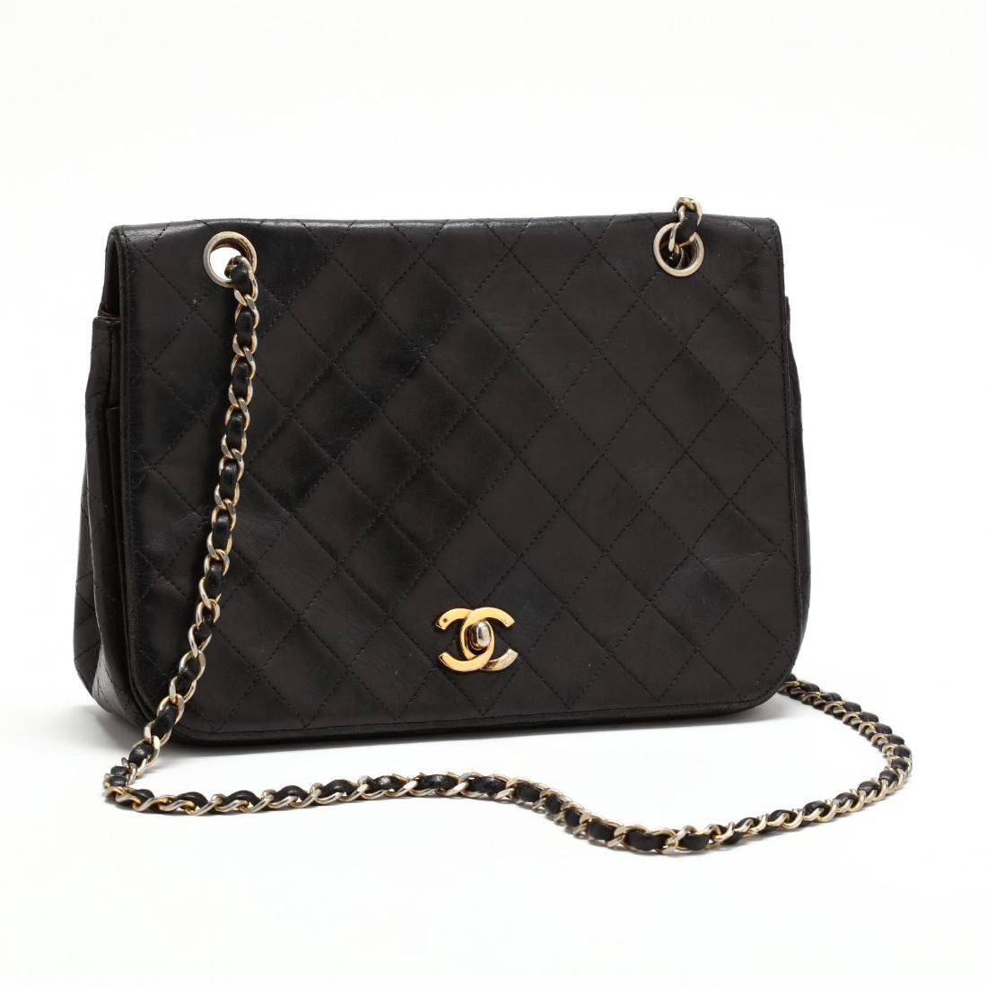 Vintage Full Flap Crossbody Bag, Chanel