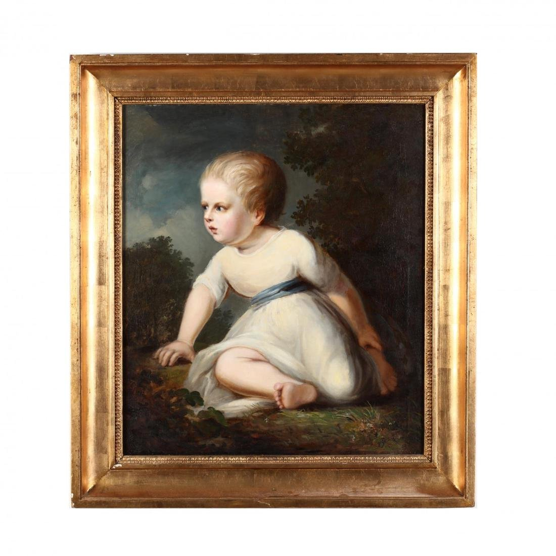 An English School Portrait of a Young Child