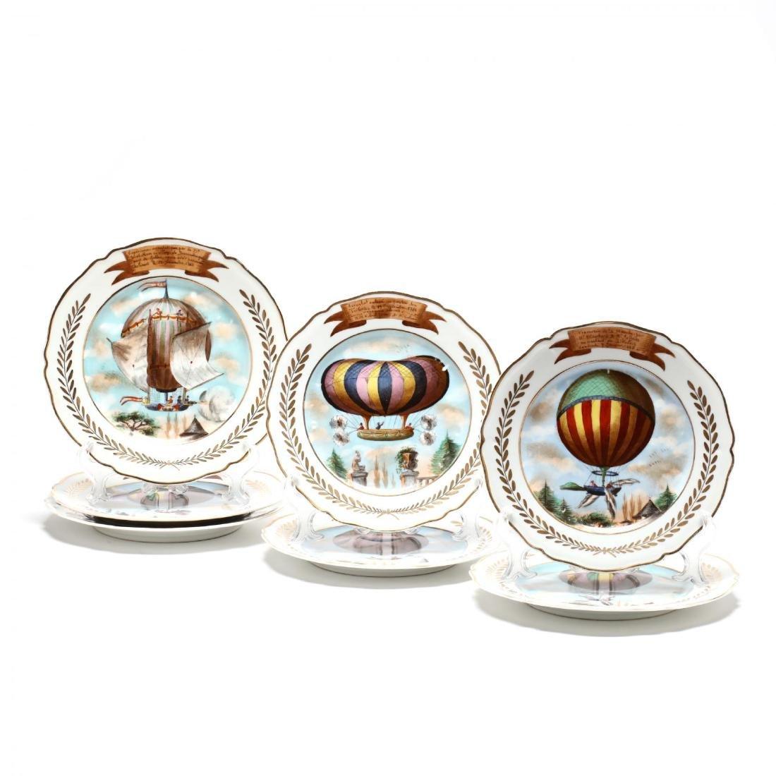 A Set of Seven Paris Porcelain Plates