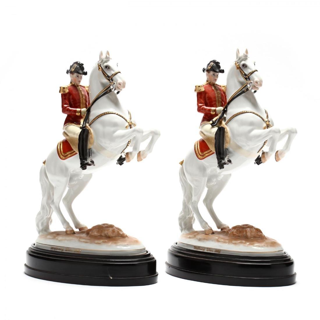 A Pair of Hofburg Wien, Augarten, Spanish Riding School