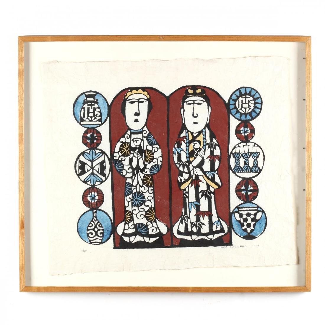 Mary and Kannon  by Sadao Watanabe (Japanese,