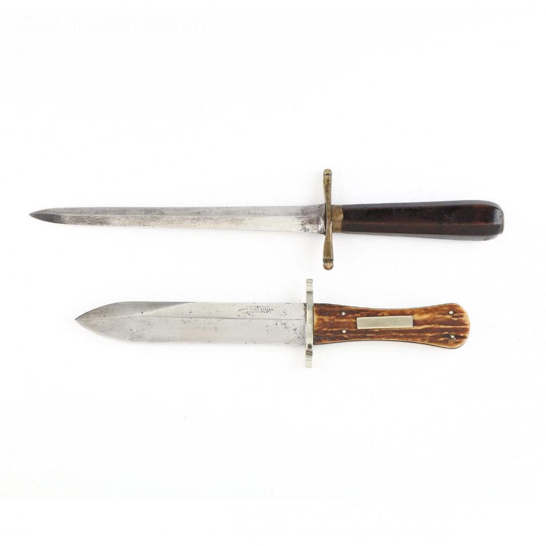 Two Mid-19th Century Fighting Knives
