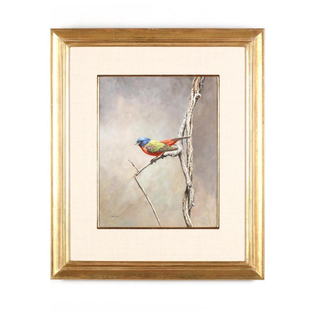 Anthony Henneberg (American, 20th c.), Painted Bunting