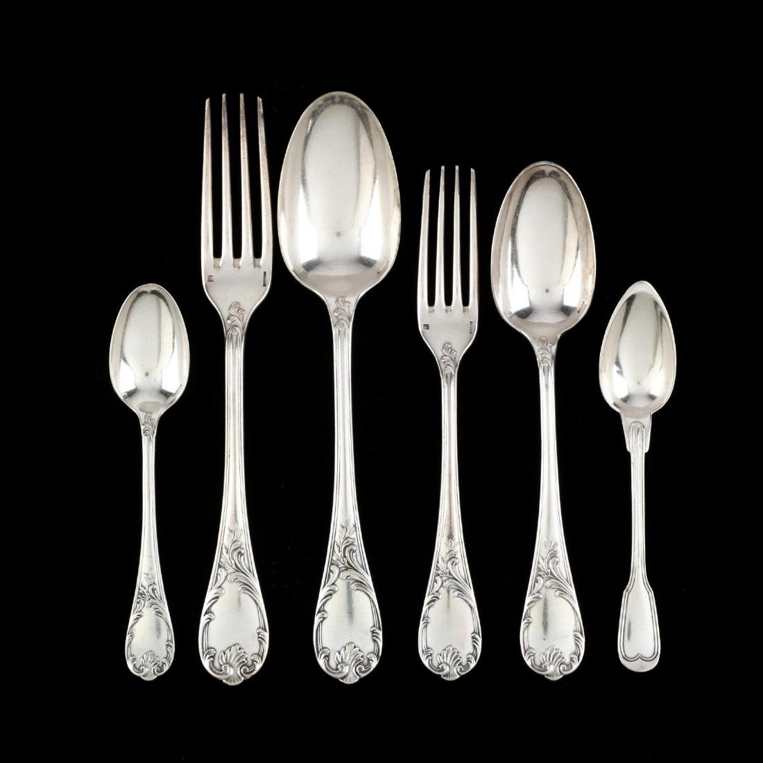 "Christofle ""Marly"" Silverplate Flatware Set"