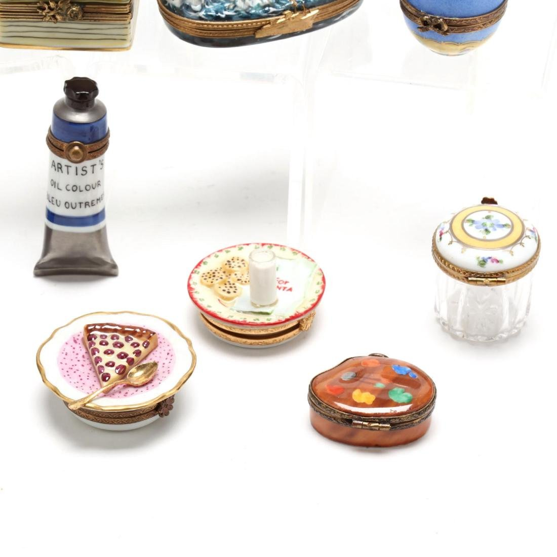 (15) Limoges Painted Porcelain Pill Boxes - 2