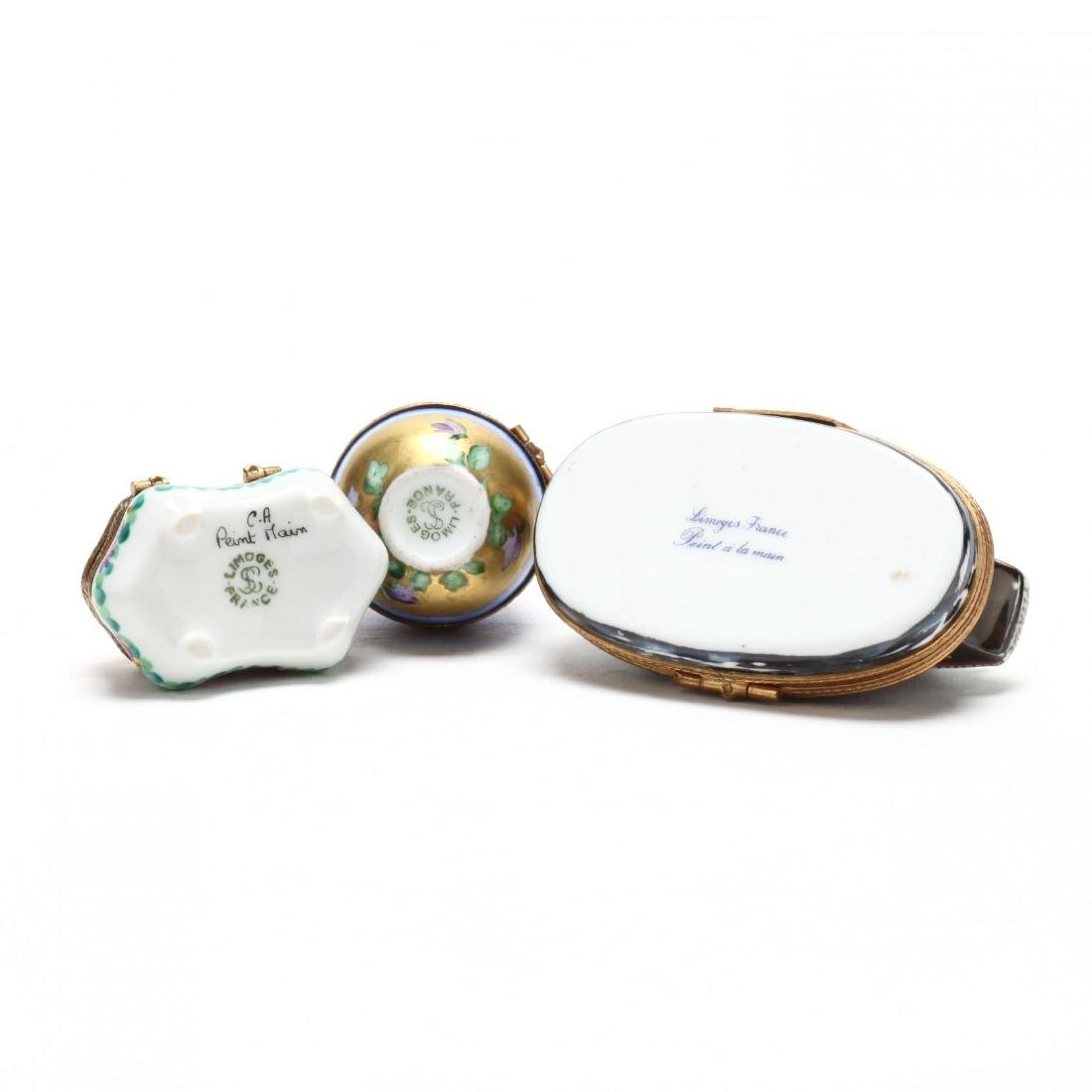 (15) Limoges Painted Porcelain Pill Boxes - 6
