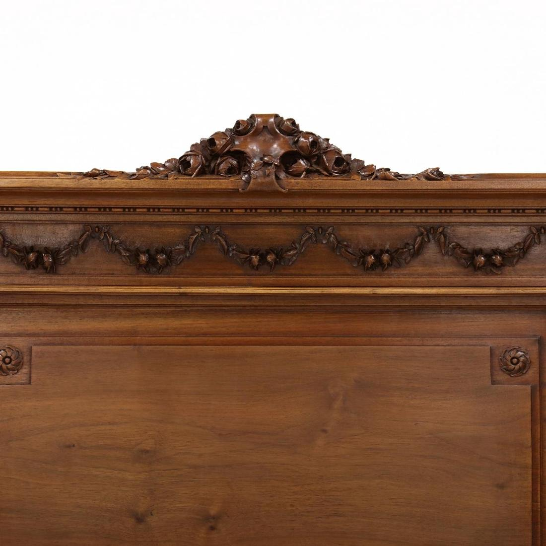 Louis XVI Style Carved Walnut Bed - 2