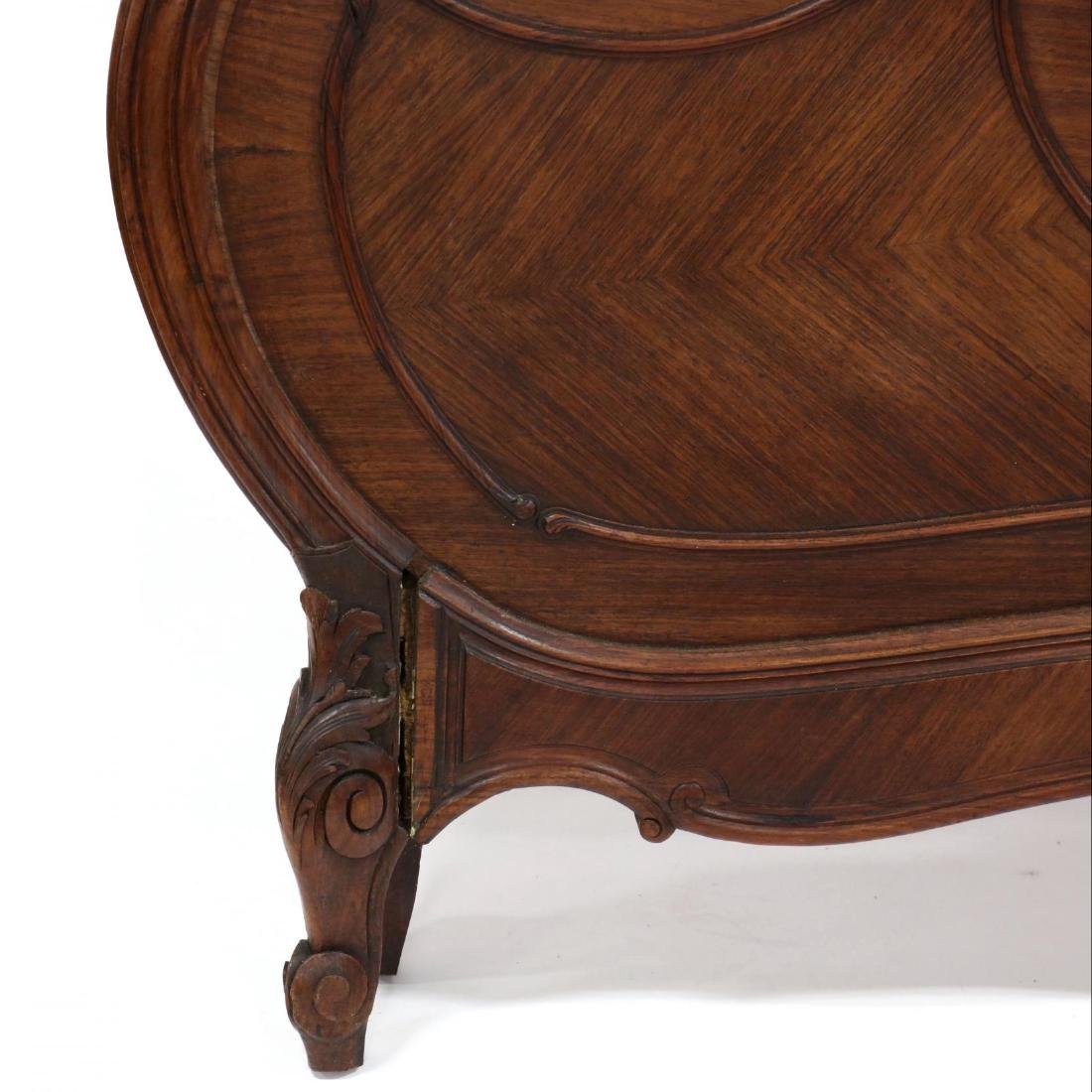 French Rococo Style Carved Walnut Full Size Bed - 3