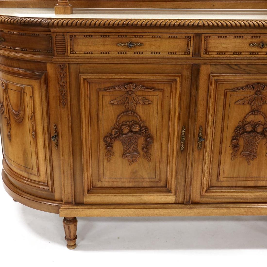 Louis XVI Style Carved Walnut Sideboard - 3