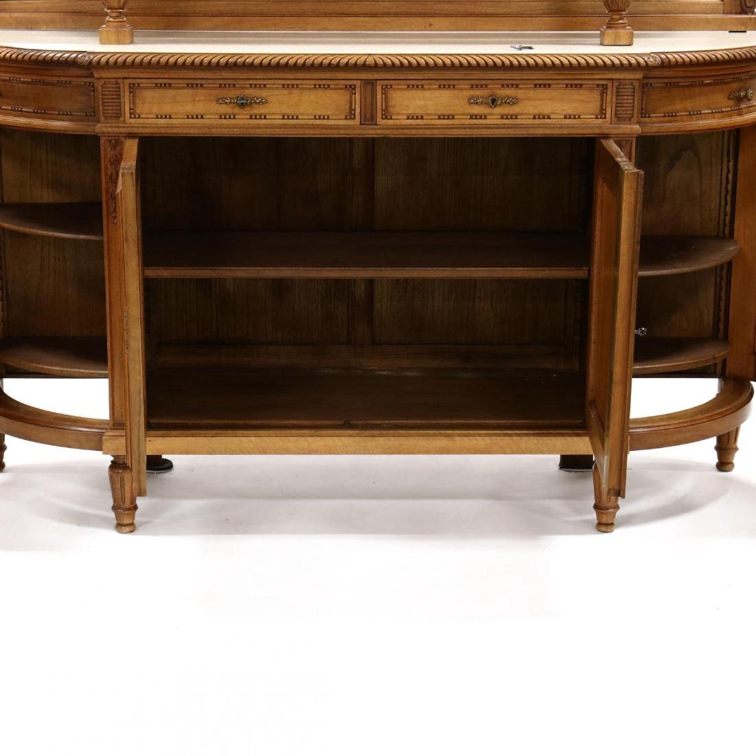 Louis XVI Style Carved Walnut Sideboard - 4