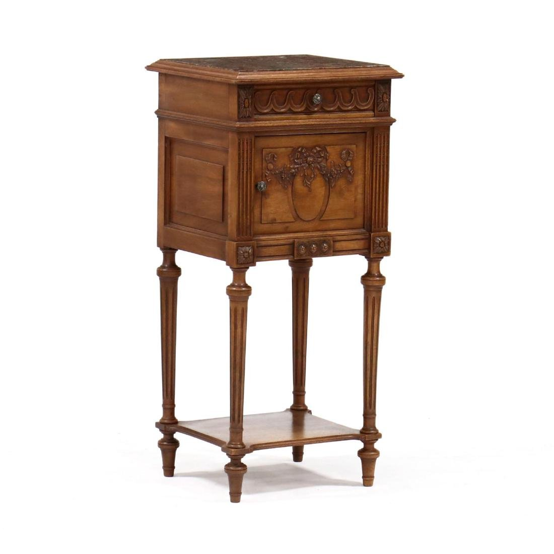 Louis XVI Style Marble Top Smoking Stand