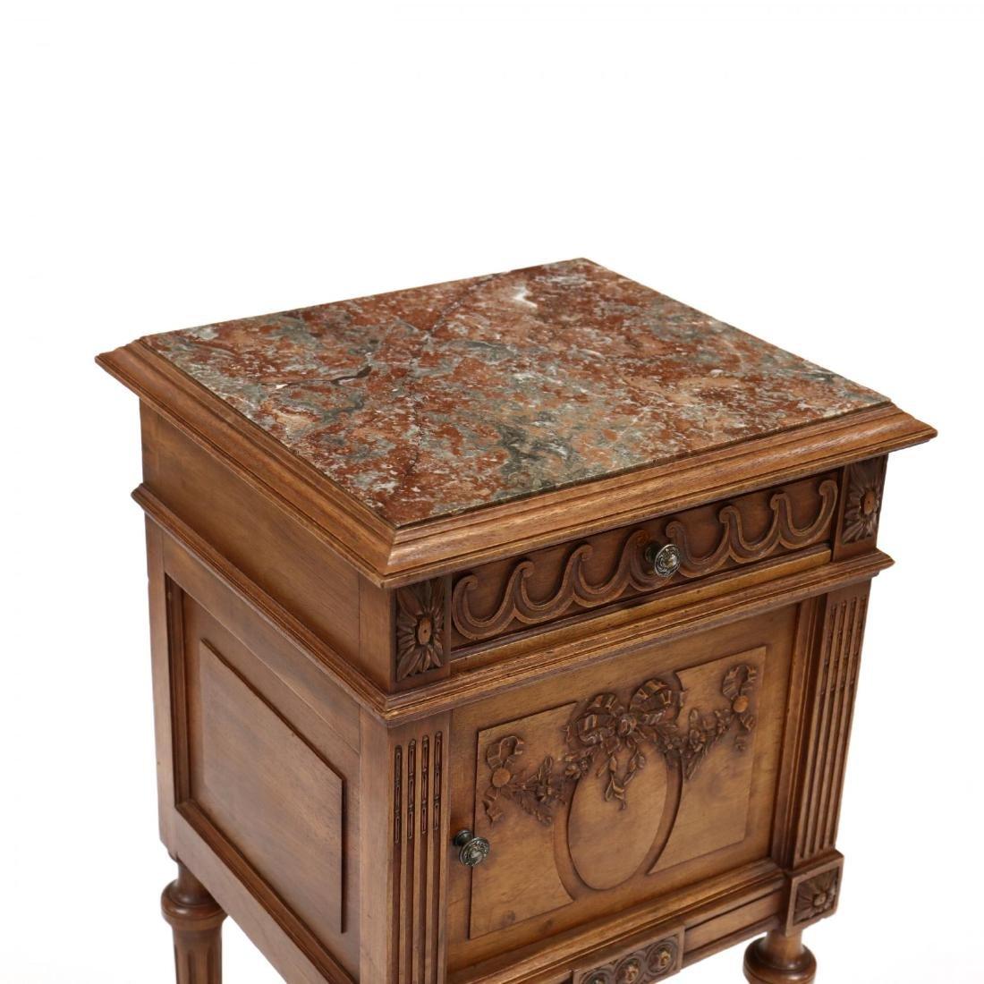 Louis XVI Style Marble Top Smoking Stand - 2