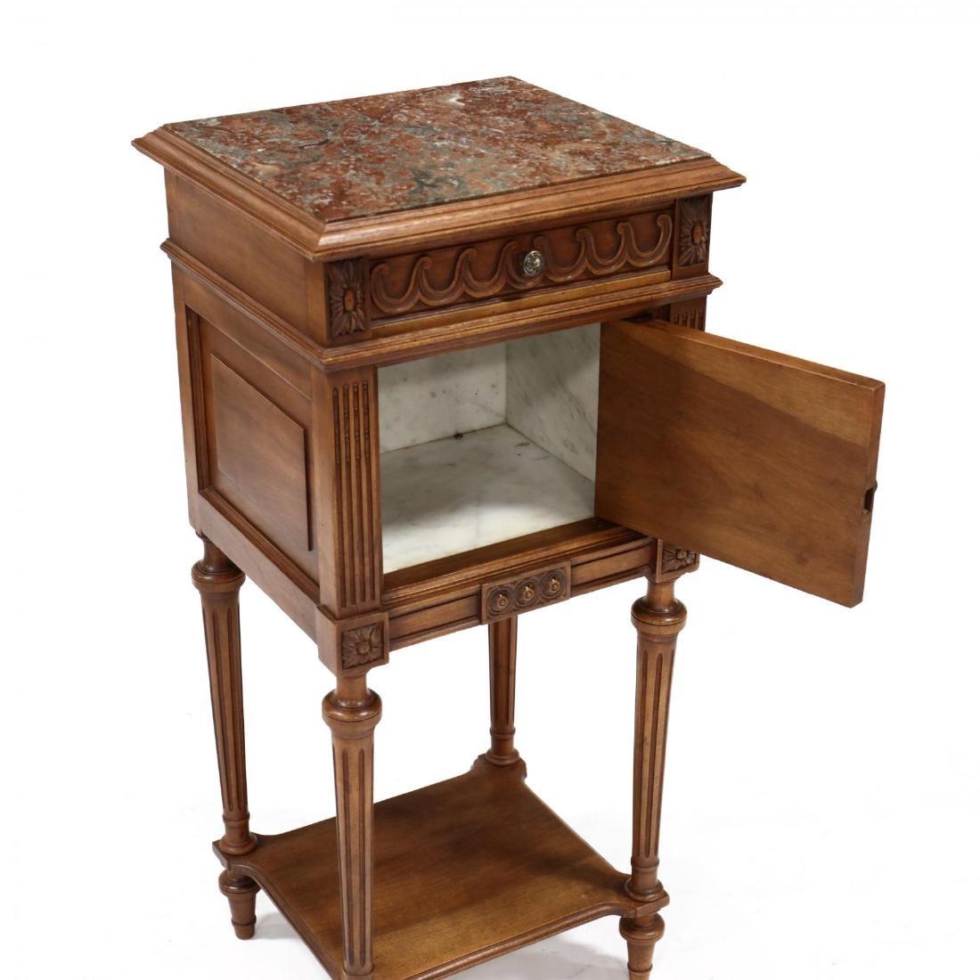 Louis XVI Style Marble Top Smoking Stand - 3