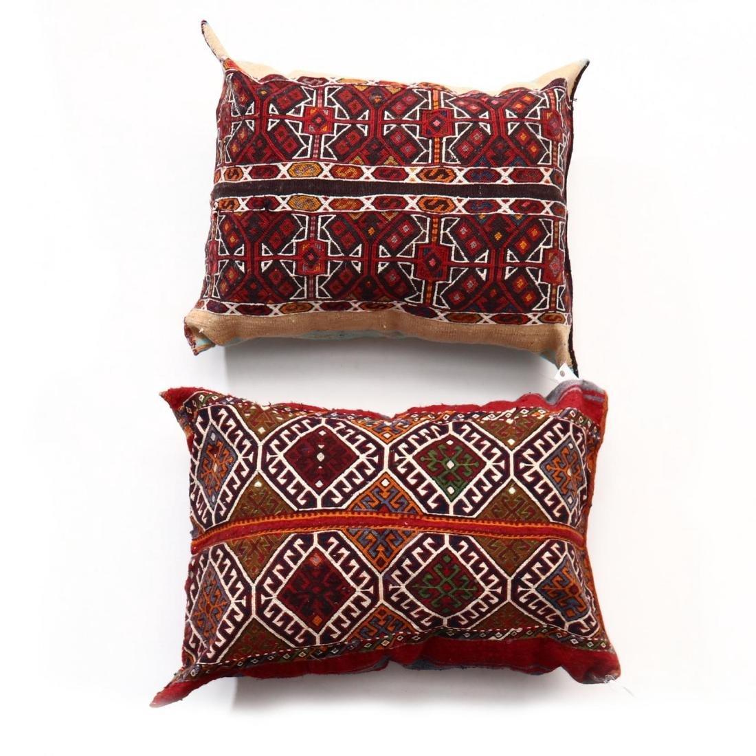Two Oversized Kurdish Weave Floor Pillows