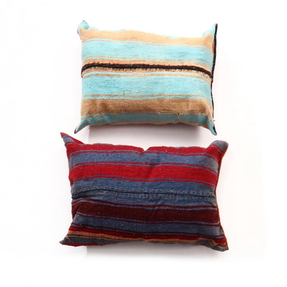 Two Oversized Kurdish Weave Floor Pillows - 2
