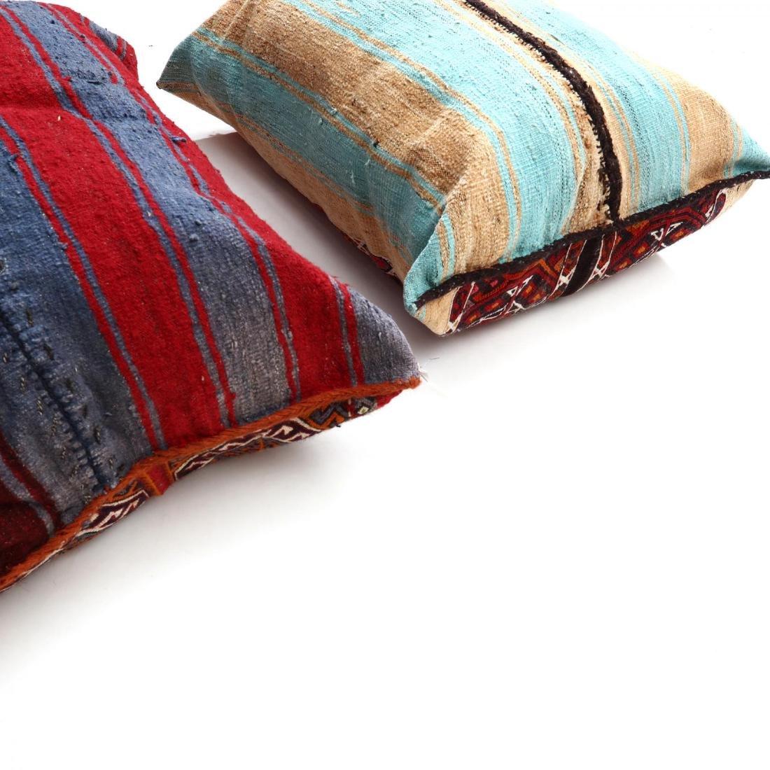 Two Oversized Kurdish Weave Floor Pillows - 3