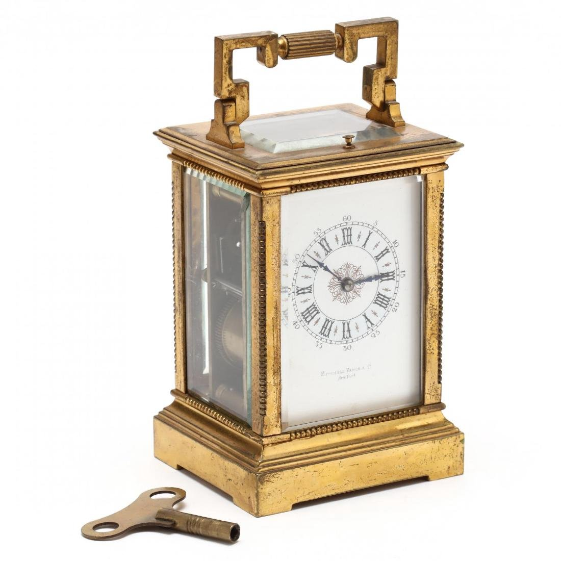 Mitchell Vance & Co., Gilt Bronze Carriage Clock