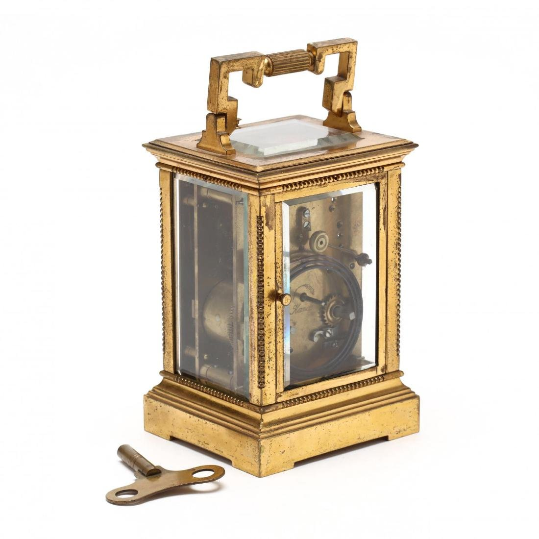 Mitchell Vance & Co., Gilt Bronze Carriage Clock - 2