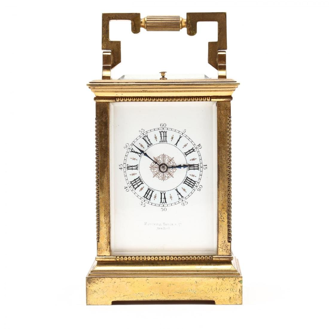 Mitchell Vance & Co., Gilt Bronze Carriage Clock - 7