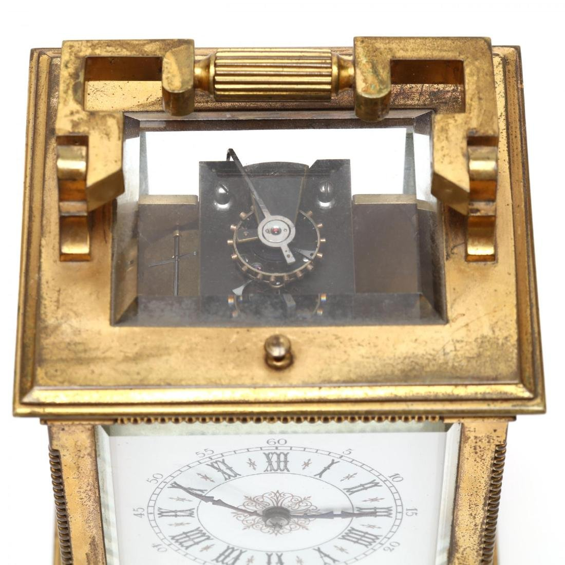 Mitchell Vance & Co., Gilt Bronze Carriage Clock - 9