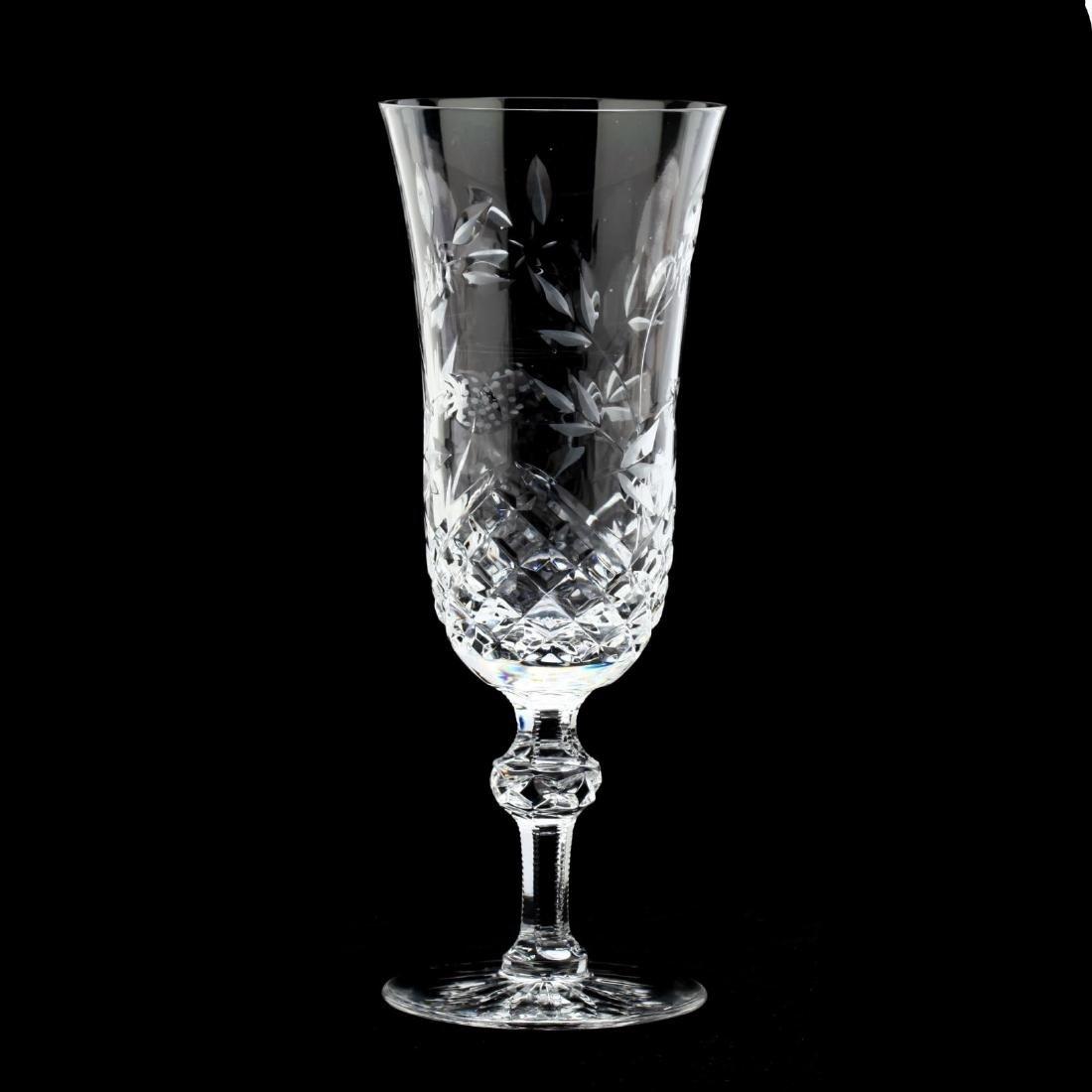 Wedgwood, Set of Seven Cut Glass Wine Stems - 2