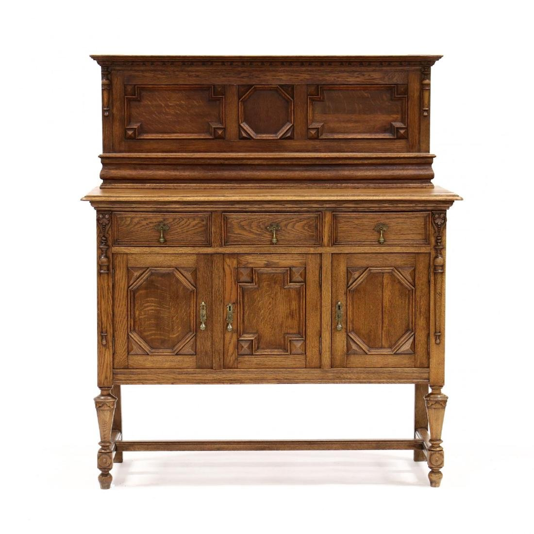 Jacobean Style Carved Oak Buffet