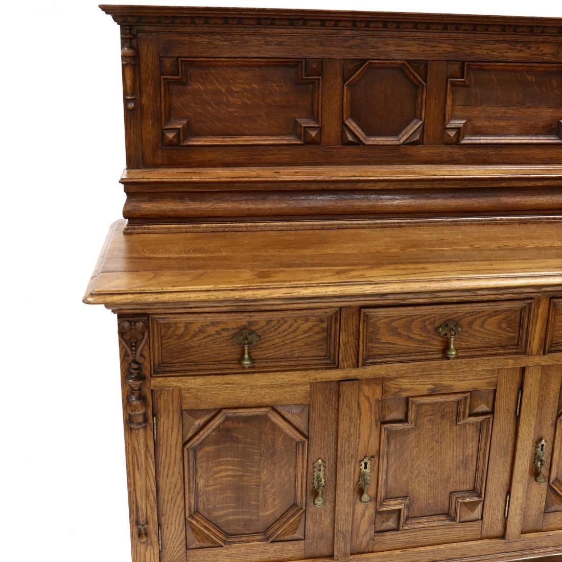 Jacobean Style Carved Oak Buffet - 2