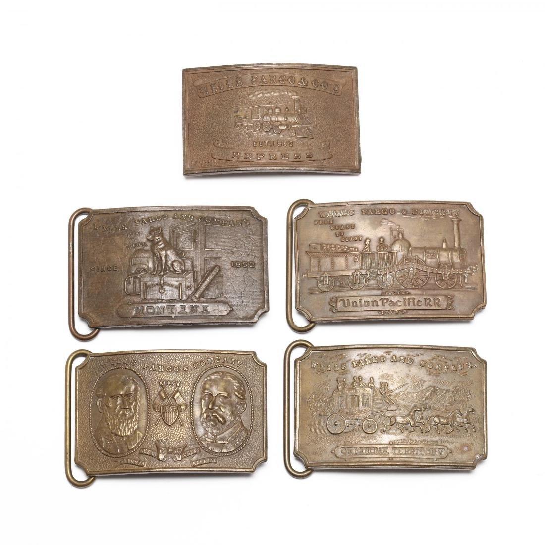 Five Vintage Tiffany Belt Buckles for Wells Fargo &