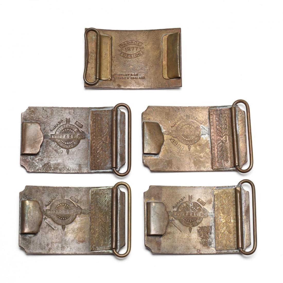 Five Vintage Tiffany Belt Buckles for Wells Fargo & - 2