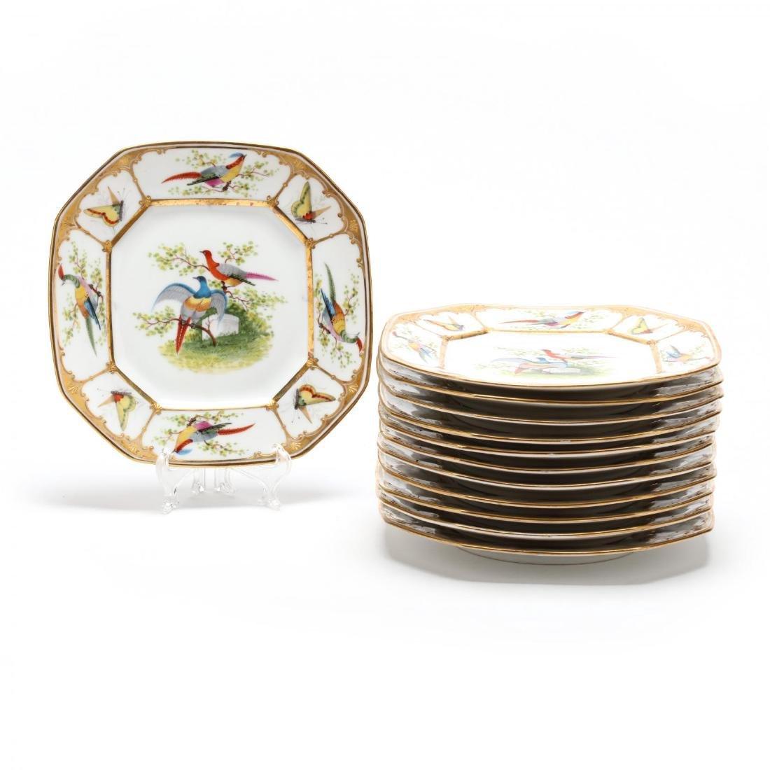 A Set of Twelve Porcelain Dessert Plates
