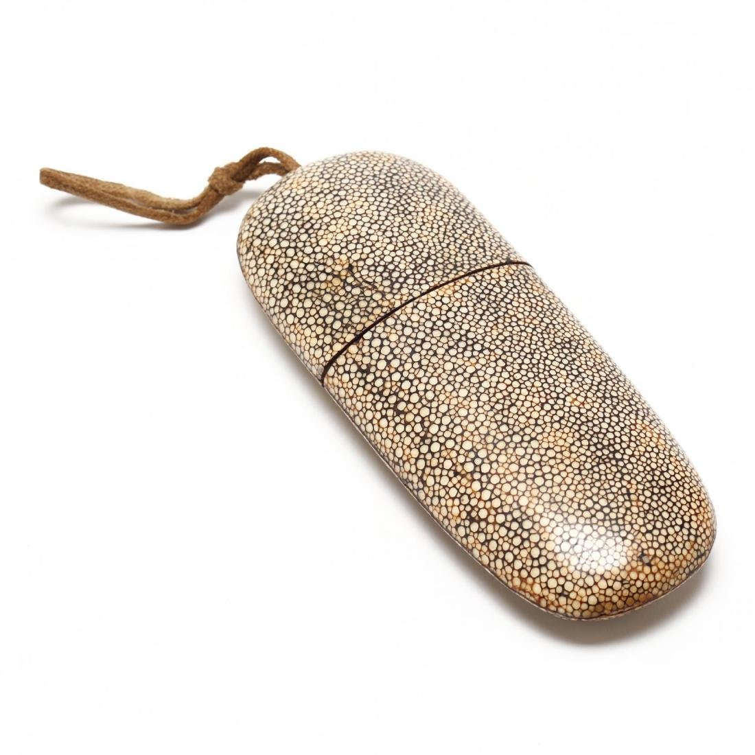 Antique Shagreen Eyeglass Case