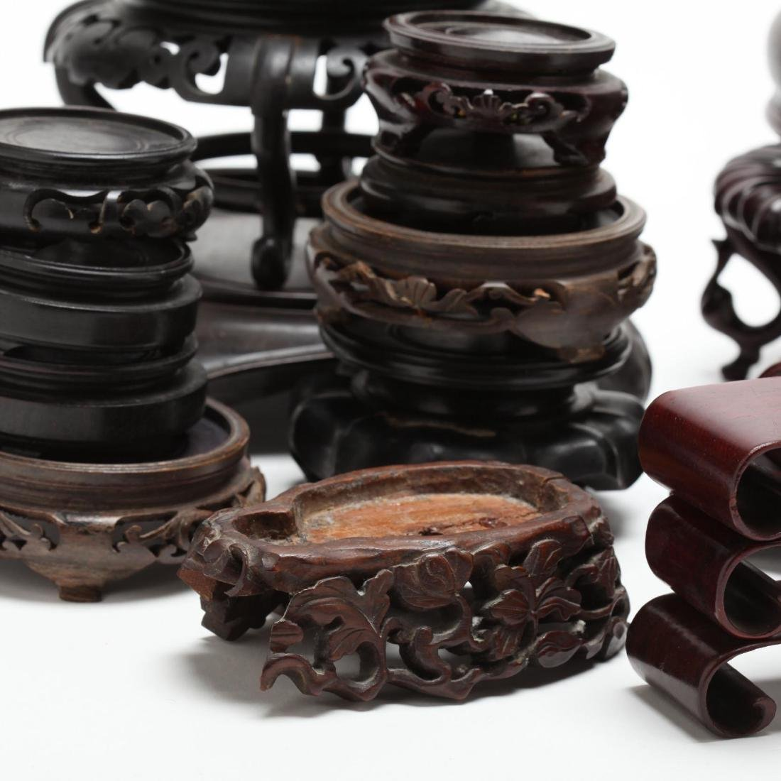 Assorted Chinese Hardwood Stands - 2