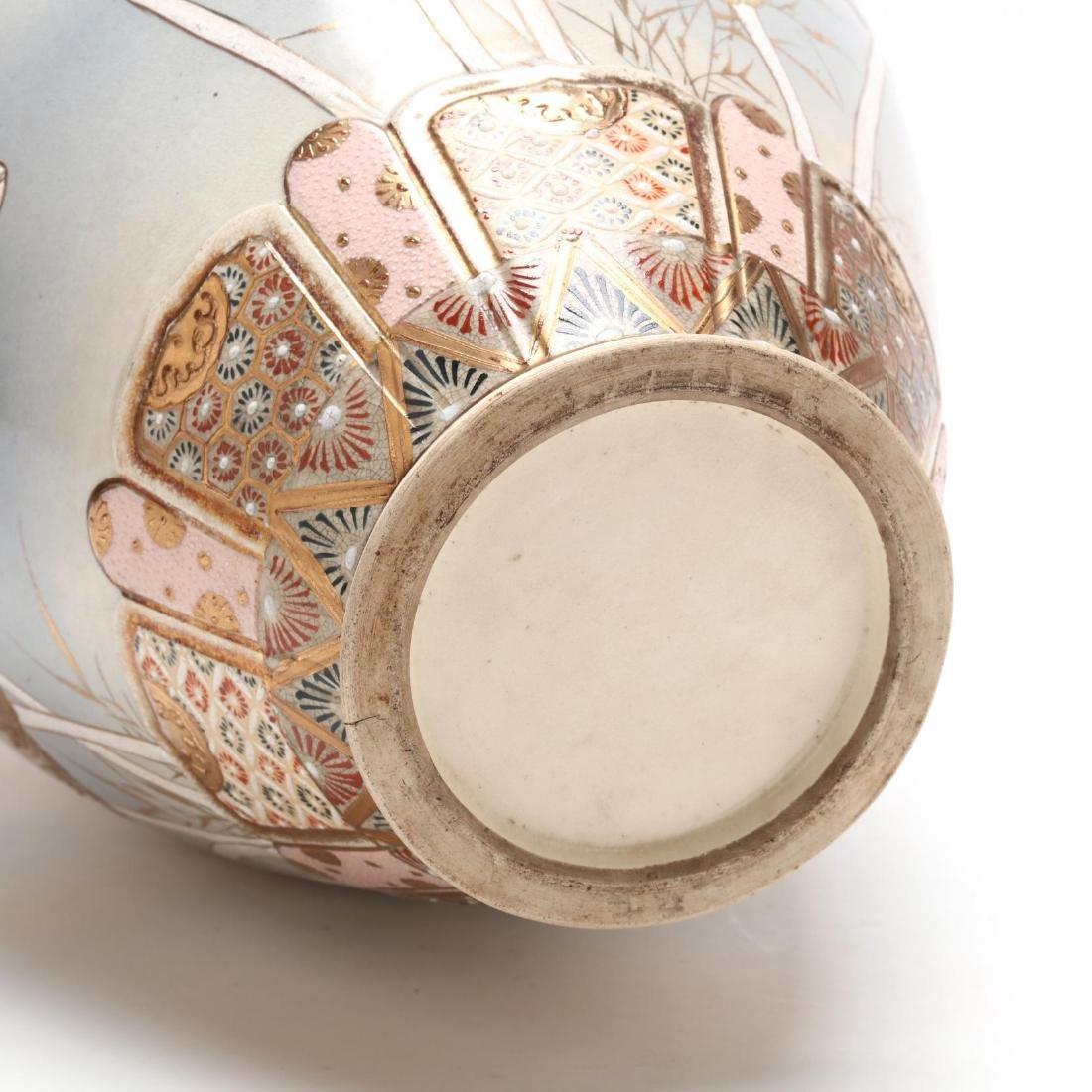 Large Japanese Satsuma Vase - 4