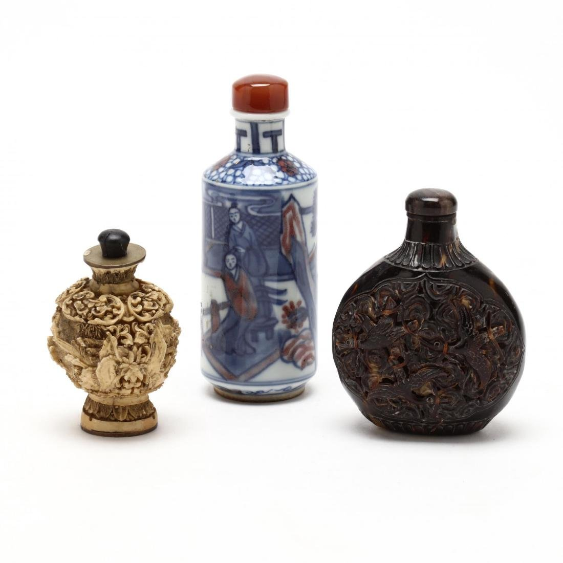 Three Assorted Snuff Bottles
