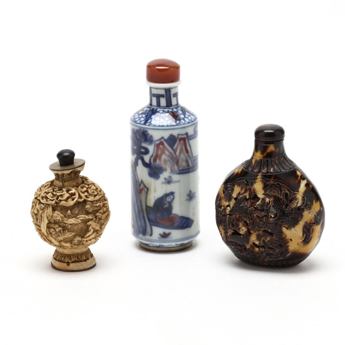Three Assorted Snuff Bottles - 2