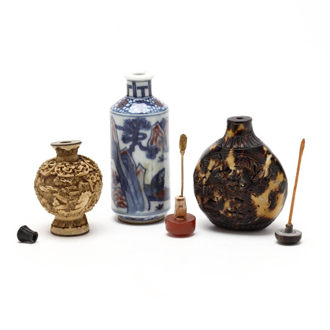 Three Assorted Snuff Bottles - 3