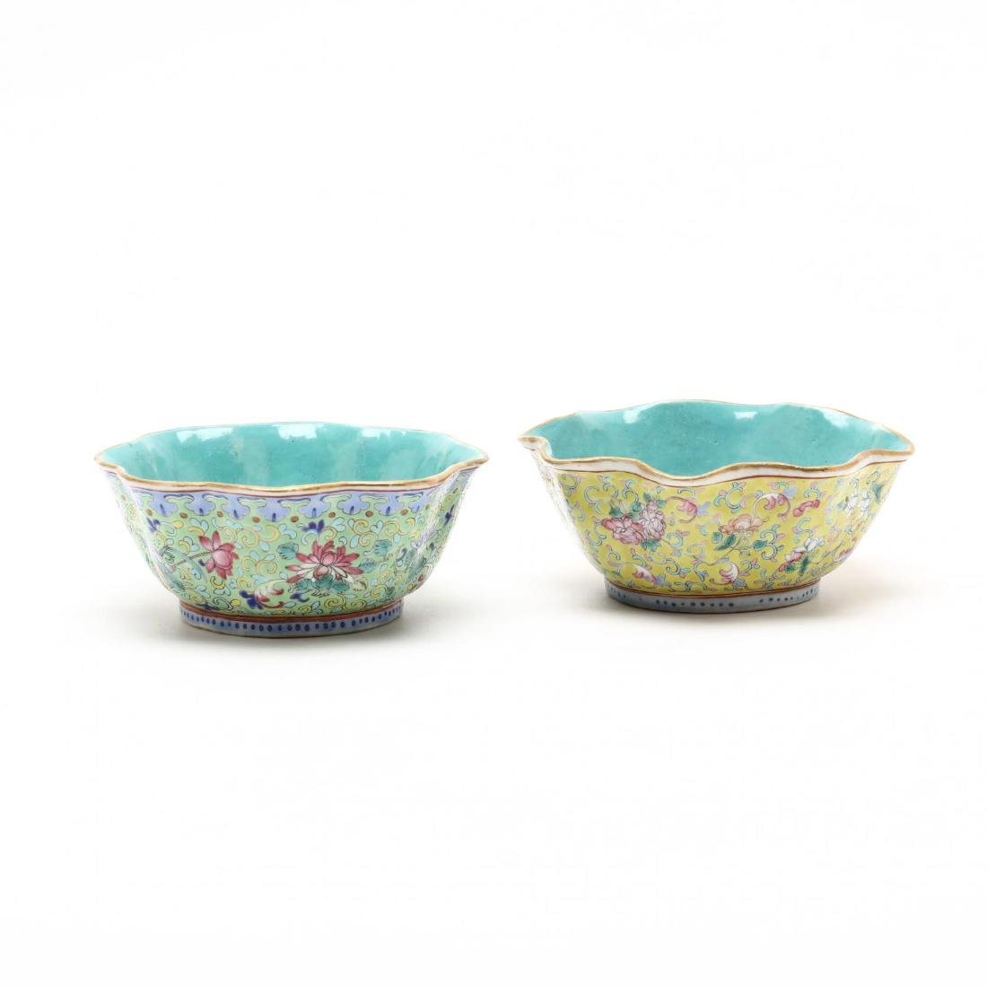 A Matched Pair of Chinese Porcelain Scalloped Bowls - 2